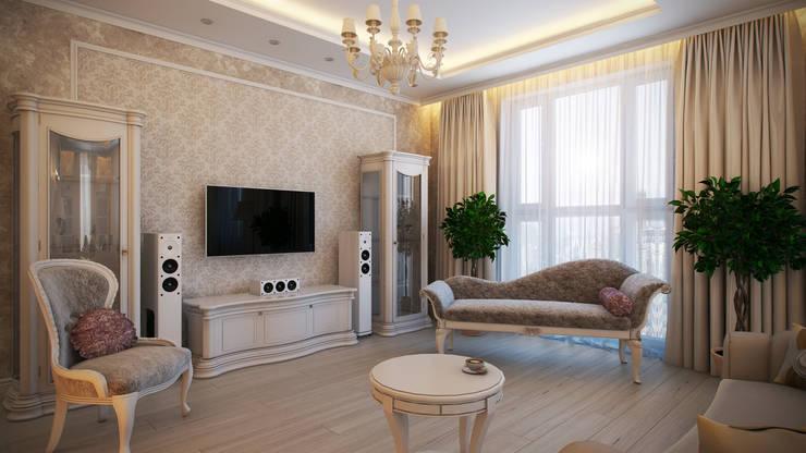 Четырехкомнатная квартира в классическом стиле: Гостиная в . Автор – Details, design studio,