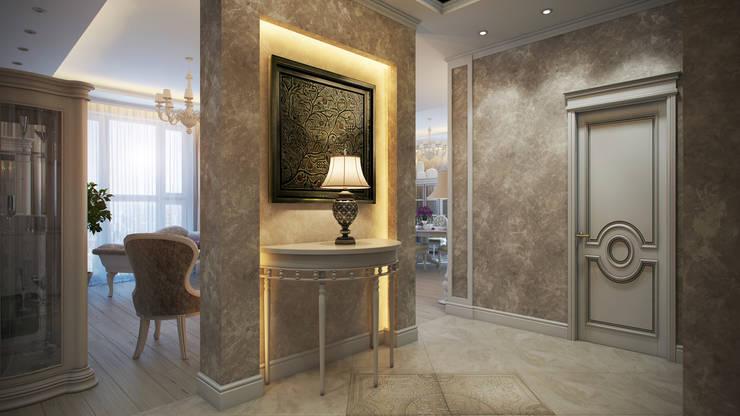 Четырехкомнатная квартира в классическом стиле: Коридор и прихожая в . Автор – Details, design studio,