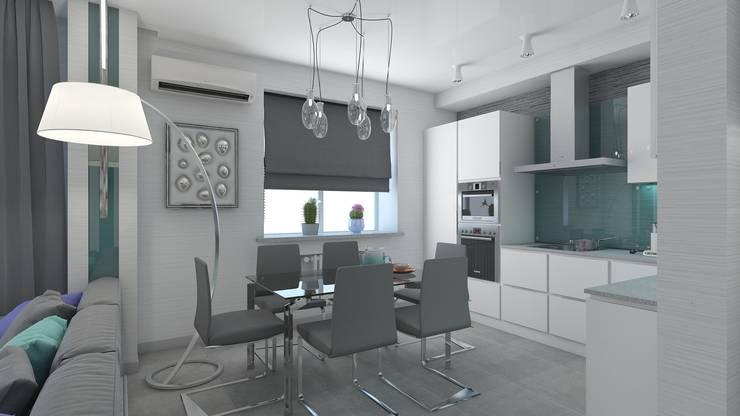 дизайн квартиры в стиле хай-тек: Кухни в . Автор – архитектор-дизайнер Алтоцкий Михаил (Altotskiy Mikhail)