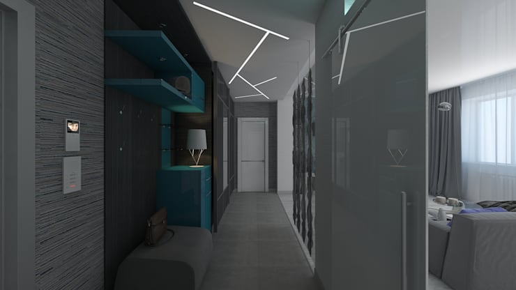 дизайн квартиры в стиле хай-тек: Коридор и прихожая в . Автор – архитектор-дизайнер Алтоцкий Михаил (Altotskiy Mikhail)