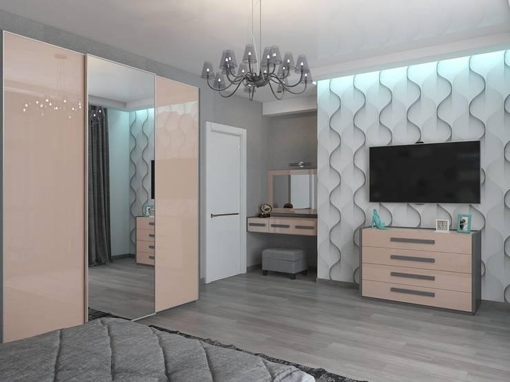 дизайн квартиры в стиле хай-тек: Спальни в . Автор – архитектор-дизайнер Алтоцкий Михаил (Altotskiy Mikhail)
