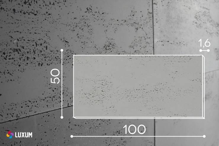 Płyty z betonu architektonicznego: styl , w kategorii Ściany i podłogi zaprojektowany przez Luxum