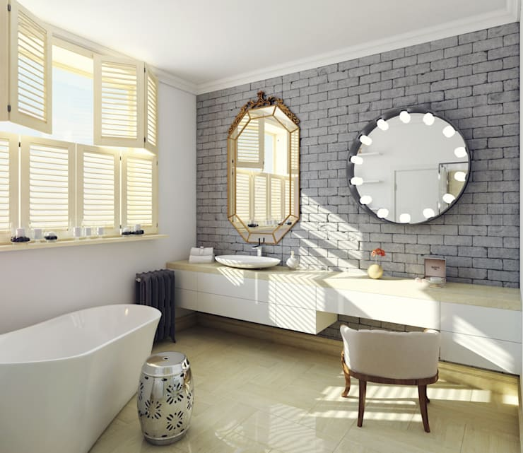 industrial Bathroom by Interiorbox