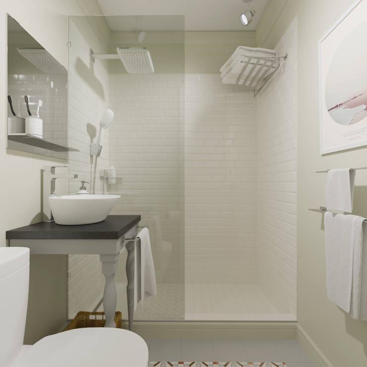 Минимализм:  Bathroom by Interiorbox