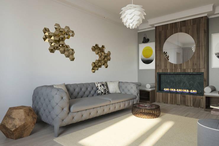 Минимализм: minimalistic Living room by Interiorbox