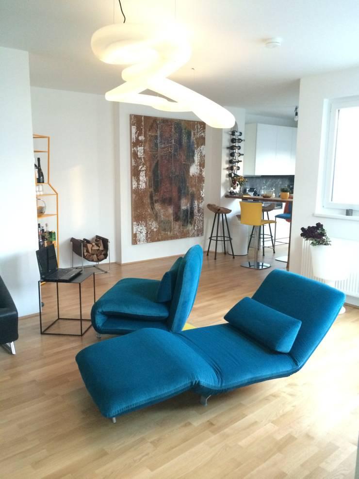 Moderne Wohnzimmer Einrichtung In Wien Von Wohndesign Maierhofer