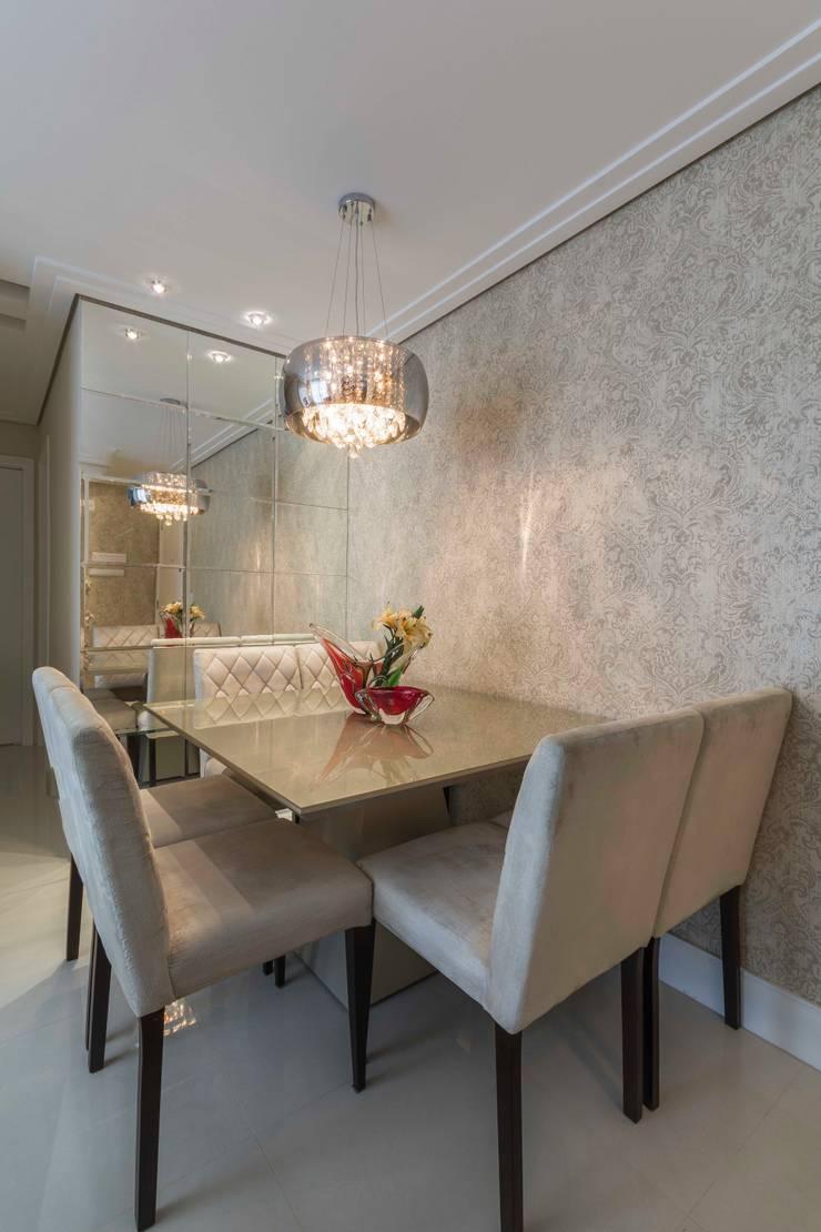 Obra Santo Andre: Salas de jantar  por Silvana Borzi Design