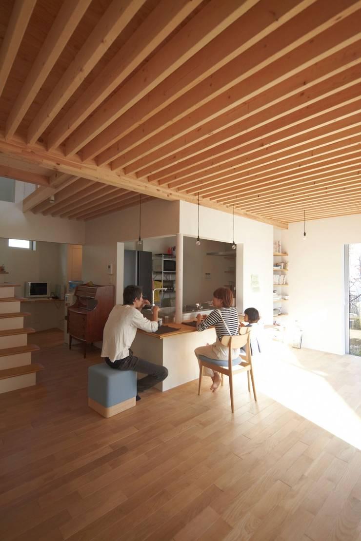 アオバの家: シキナミカズヤ建築研究所が手掛けたダイニングです。,