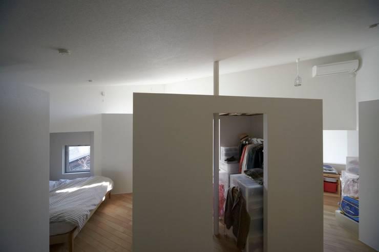 アオバの家: シキナミカズヤ建築研究所が手掛けた寝室です。,