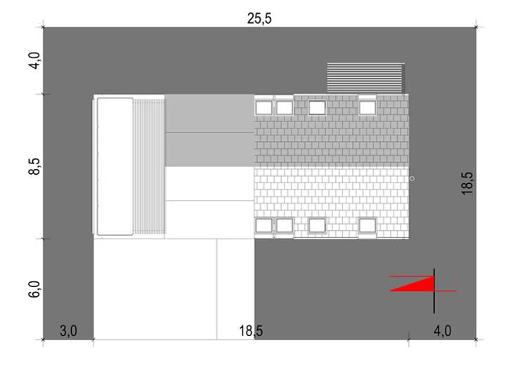Projekty domów - House 27: styl , w kategorii  zaprojektowany przez Majchrzak Pracownia Projektowa,Nowoczesny