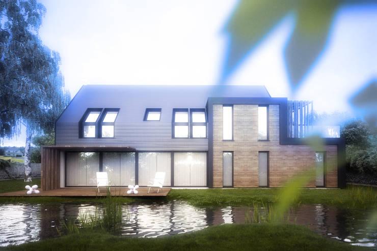 Projekty domów - House 27: styl , w kategorii Domy zaprojektowany przez Majchrzak Pracownia Projektowa,Nowoczesny