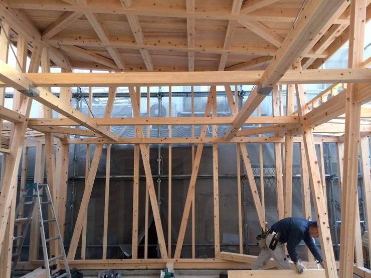 S教室 オリジナルな 家 の 木造トラス研究所・株式会社 合掌 オリジナル 木 木目調