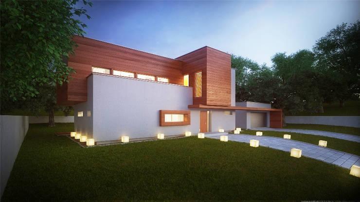 Projekty domów - House x02: styl , w kategorii Domy zaprojektowany przez Majchrzak Pracownia Projektowa