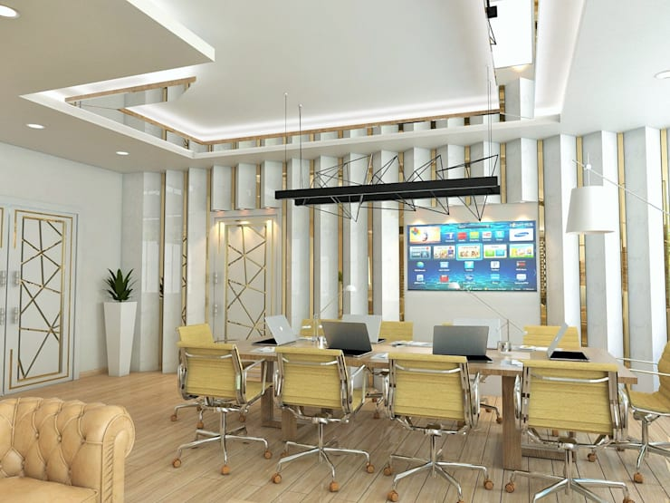 Murat Aksel Architecture – Office:  tarz Çalışma Odası, Modern Mermer
