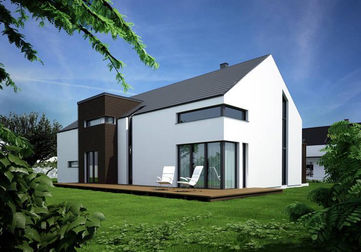 Projekty domów - House 20: styl , w kategorii Domy zaprojektowany przez Majchrzak Pracownia Projektowa,Nowoczesny