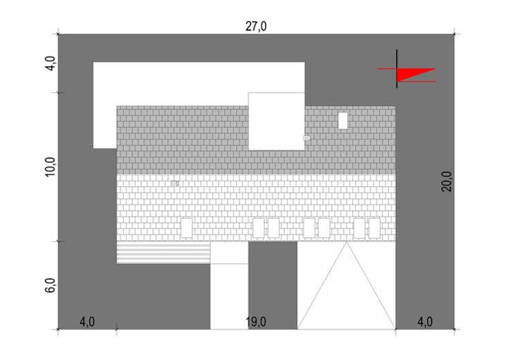 Projekty domów - House 20: styl , w kategorii  zaprojektowany przez Majchrzak Pracownia Projektowa,Nowoczesny
