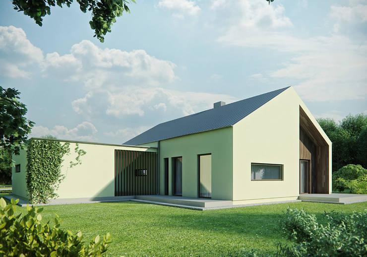 Projekty domów - House 14: styl , w kategorii Domy zaprojektowany przez Majchrzak Pracownia Projektowa