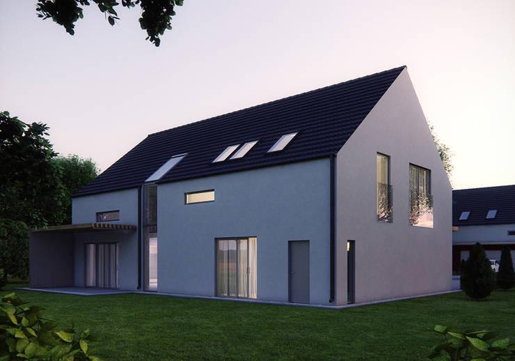 Projekty domów - House 07: styl , w kategorii Domy zaprojektowany przez Majchrzak Pracownia Projektowa,Nowoczesny