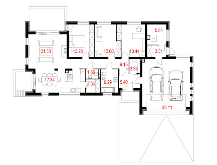 Projekty domów - House 04: styl , w kategorii  zaprojektowany przez Majchrzak Pracownia Projektowa,