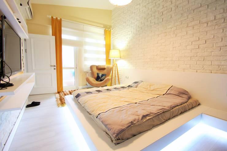 Murat Aksel Architecture – Apartment:  tarz Yatak Odası