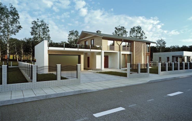 Projekty domów - House 10.1: styl nowoczesne, w kategorii Domy zaprojektowany przez Majchrzak Pracownia Projektowa