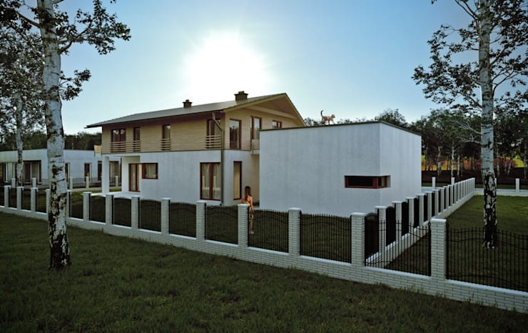 Дома в . Автор – Majchrzak Pracownia Projektowa