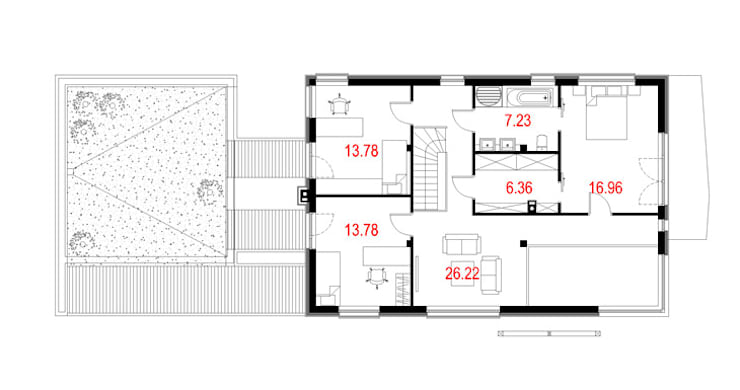 Projekty domów - House 10.1: styl , w kategorii  zaprojektowany przez Majchrzak Pracownia Projektowa