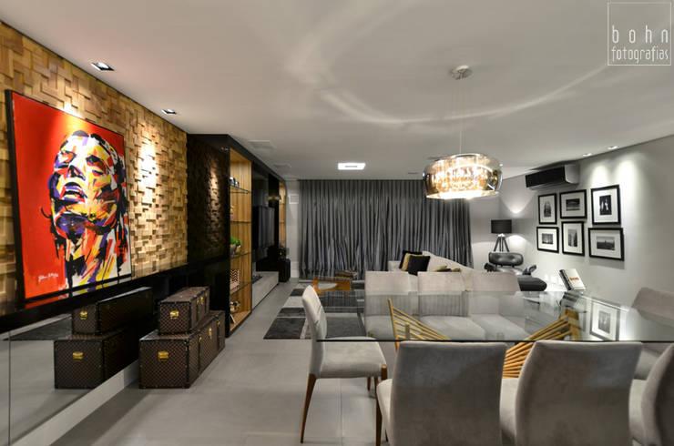 Apartamento EL: Salas de jantar  por Tamara Rodriguez Aquitetura