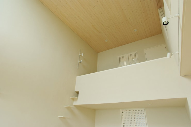 Living room by 川口孝男建築設計事務所, Modern Wood Wood effect