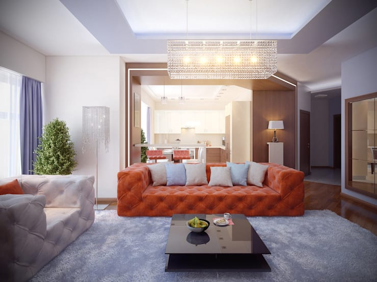 Квартира в Москве: Медиа комнаты в . Автор – Ахитектурная студия B&partners, Модерн