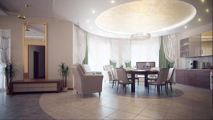 Квартира на Дубровке: Гостиная в . Автор – Ахитектурная студия B&partners