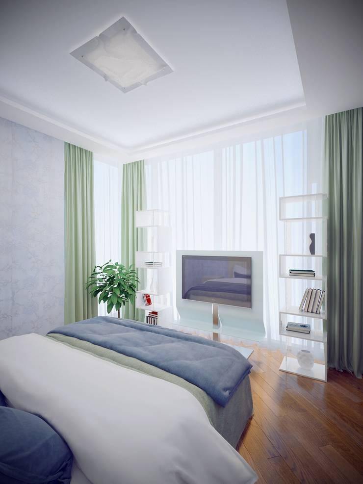 Квартира на Дубровке: Спальни в . Автор – Ахитектурная студия B&partners
