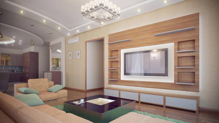 Московская квартира: Гостиная в . Автор – Ахитектурная студия B&partners