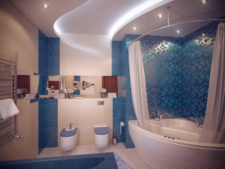 Квартира на Дубровке: Ванные комнаты в . Автор – Ахитектурная студия B&partners