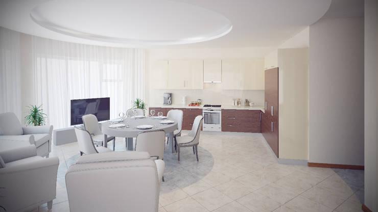 Квартира на Дубровке: Кухни в . Автор – Ахитектурная студия B&partners