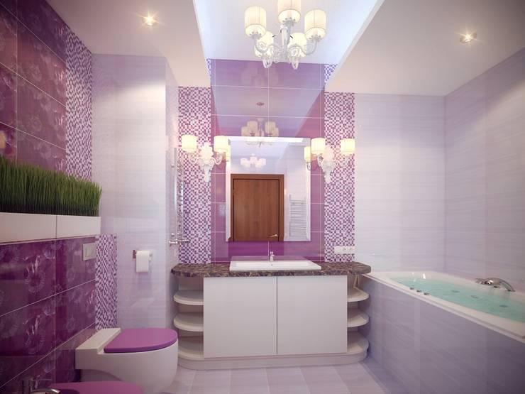 Московская квартира: Ванные комнаты в . Автор – Ахитектурная студия B&partners