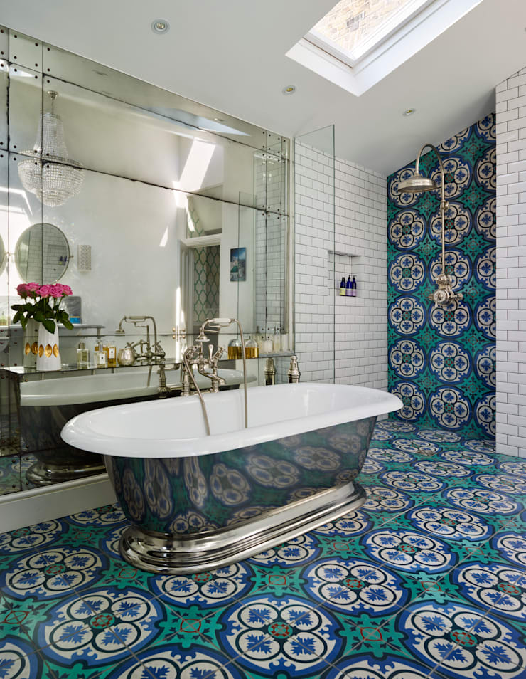 Victorian Terrace House, South-West London: mediterranean Bathroom by Drummonds Bathrooms