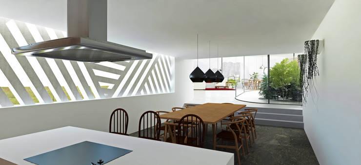 Cozinha e Sala de Jantar: Cozinhas  por Gustavo Guimarães