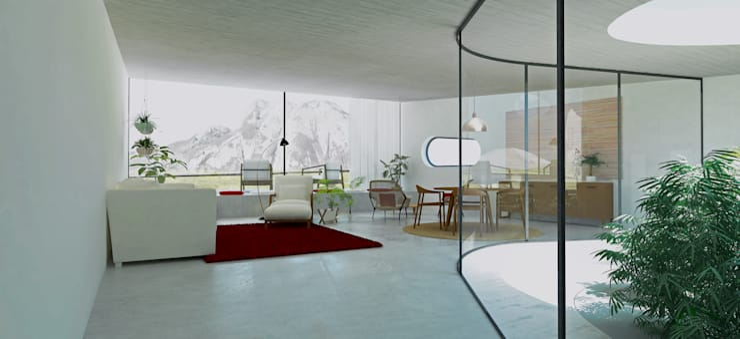 Salon de style de style Tropical par Gustavo Guimarães