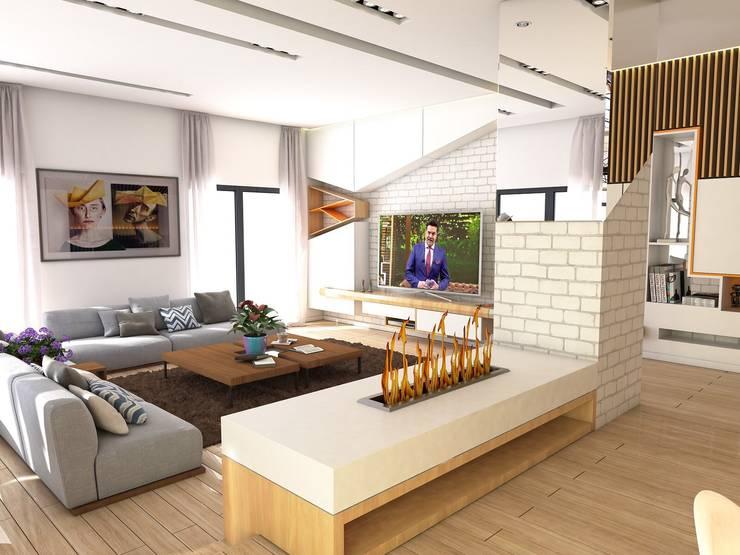 Murat Aksel Architecture – Housing:  tarz Oturma Odası