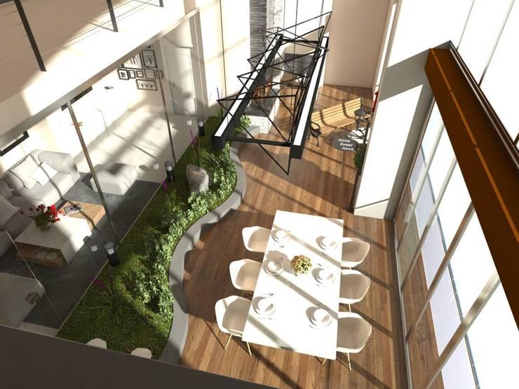 Murat Aksel Architecture – Housing: modern tarz Kış Bahçesi