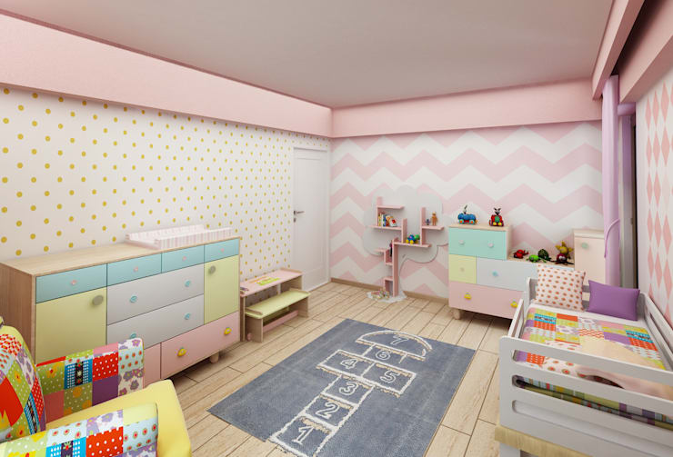 modern Nursery/kid's room by Murat Aksel Architecture