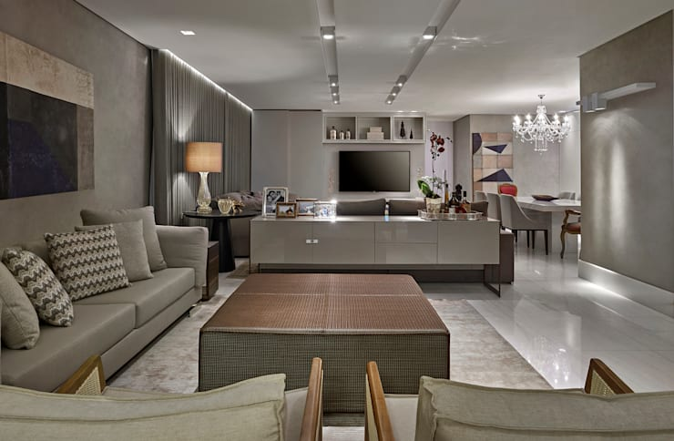 Salones de estilo  de Isabela Canaan Arquitetos e Associados, Moderno