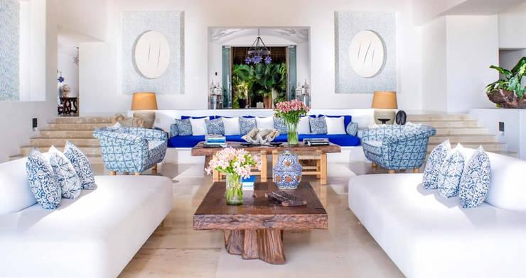 BR  ARQUITECTOS: tropikal tarz tarz Oturma Odası