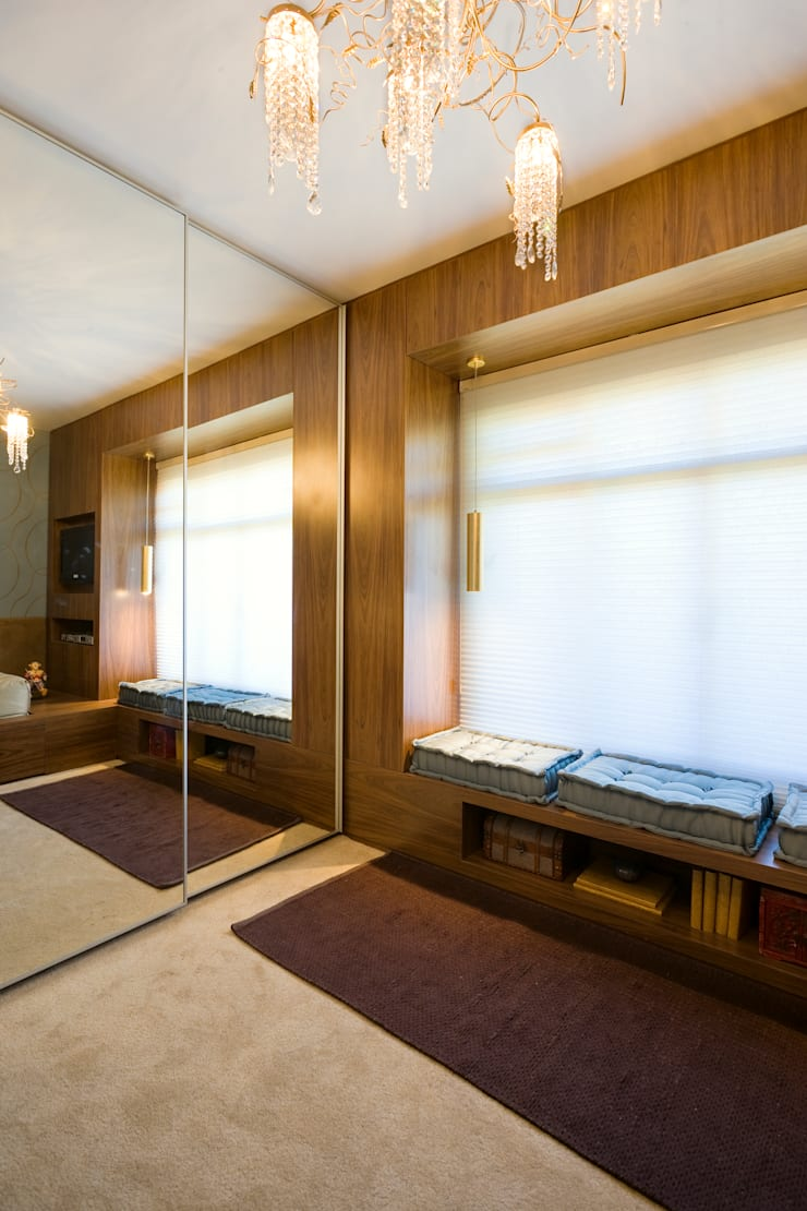 Quarto da Moça – Casa Cor MG 2009: Quartos  por MMMundim Arquitetura e Interiores