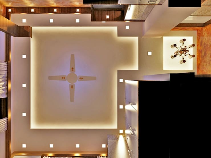Room 2 ceiling design: modern Bedroom by Creazione Interiors