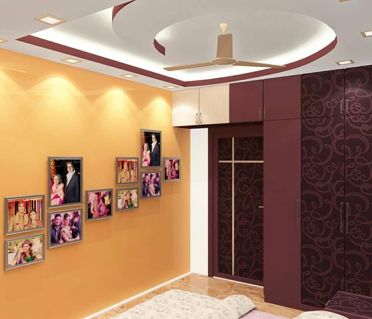 Room 3 Wardrobe view: modern Bedroom by Creazione Interiors