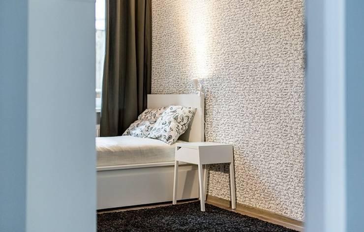 Apartament w Bielawie: styl , w kategorii Sypialnia zaprojektowany przez Finchstudio,Skandynawski