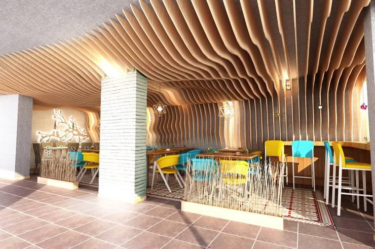 Murat Aksel Architecture – Restaurant:  tarz İç Dekorasyon
