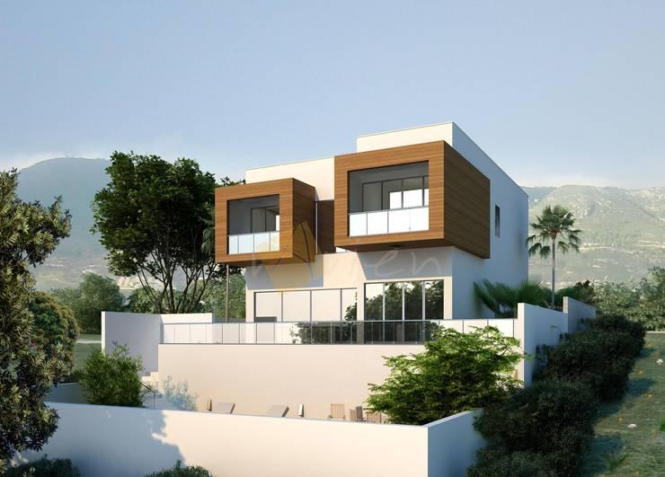 Villa Modern Evler Murat Aksel Architecture Modern Ahşap Ahşap rengi